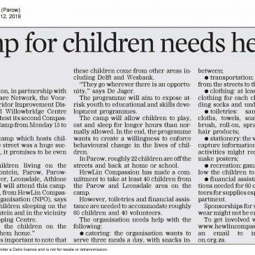 Camp for Children Needs Help