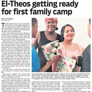 El-Theos getting ready for first family camp