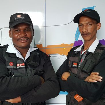 Safety officers retrieve Transnet equipment